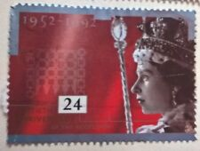 Great Britain stamps - Anniversary of the Accession 1952-1992 24p - FREE P & P
