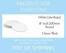 "10 x 8"" Round White Cake Board FREE SHIPPING"