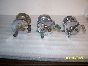 Lot of 3 Vintage Casting Fishing Reels, PFLUEGER, BRONSON, GREAT LAKES -Repair