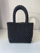 Zara Black Beads Small Hold-all Bag