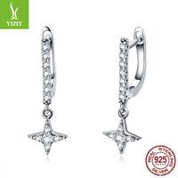 New 925 Sterling Silver Twinkling Night Ear Cilp Earrings Dangle Pandent Jewelry