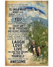 New listing Paragliding Today Is A Good Day Jumping Adventure art Wall Decor Poster Unframed