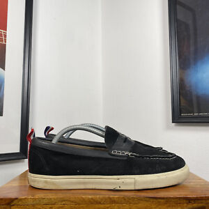 Mens VANS CLASSIC SLIP ON Suede Loafer Shoes Trainers Black/White US8.5/UK7.5/41