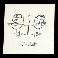 SINé DESSINATEUR/ CARREAU CERAMIQUE BI-CHAT (HOPITAL) ARAMIC DESVRES