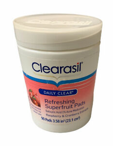 Clearasil daily clear refreshing superfruit 90 PADS raspberry cranberry