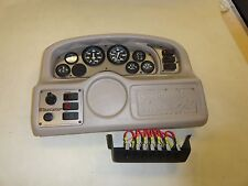 "TAN DASH PANEL W / FARIA GAUGES & IGNITION W/ SWITCHES 23 1/4"" X 15 1/2"" BOAT"