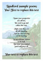 """Personalised A4 / A5 Jobs Beginning With """"L"""" Poem Scroll Gift Various Designs"""