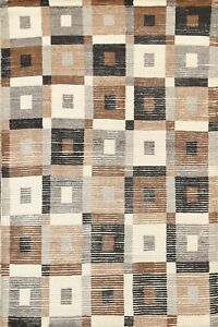 Modern Geometric Moroccan Oriental Area Rug Wool Hand-knotted Contemporary 6'x8'