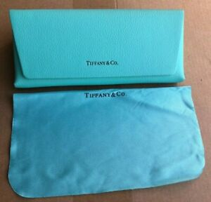 Brand new Authentic-Tiffany Eyeglass-Sunglass Leather Case With Cleaning Cloth