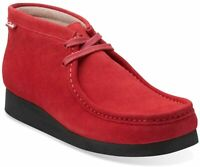 Clarks Mens Stinson Hi Boots Cherry Suede