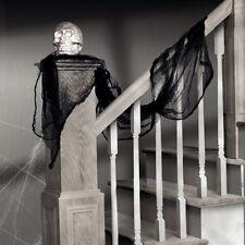 Decoración Fiesta Halloween Negro Estopilla Drapeado Utilería espeluznante escena Garland