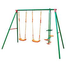 Altalena bimbi due seggiole in PVC + dondolo 2 posti struttura in metallo