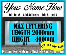 Personalised Front Shop Signs Vinyl Lettering Sign Writing Self Adhesive Art