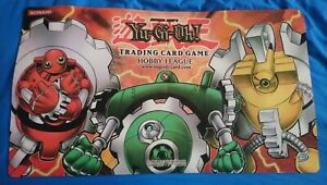 Official Yugioh Playmat mat - Hobby League - Green / Yellow / Red Gadget