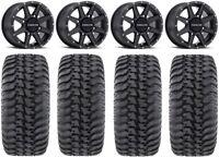 "Raceline Hostage 14"" Black Wheels 30"" Regulator Tires Can-Am Maverick X3"