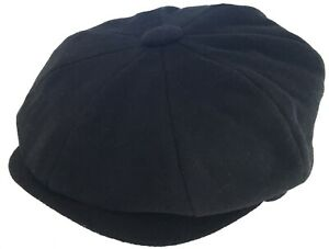 Broner Wool 8 Panel Newsboy Cap Apple Jack Gatsby Hat Cabbie Peaky Golf Driver