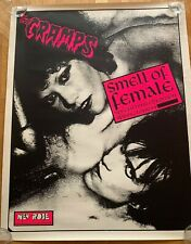 Rare The Cramps- Lux & Ivy - New Rose promo poster for « Smell of Female » 1984