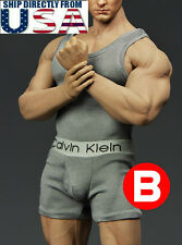 1/6 Men Tank Top & Underwear GRAY For Phicen M33 M34 Hot Toys Muscular U.S.A.