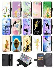 Disney TINKERBELL FAIRY Wallet Flip Phone Case iPhone 4 5 6 7 8 Plus X comp