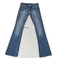 Miss Me Womens JP5182B Fleur De Embroidered Pockets Premium Boot Cut Jeans 27x33