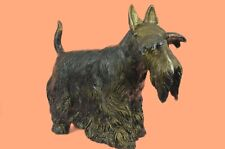 Wire Fox Terrier statue, 41X51cm,22 Lbs Hot cast pure Genuine Handcrafted Bronze