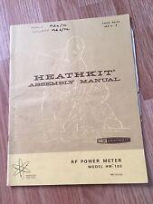 Heathkit Assembly Manual HM-102 RF Power Meter - Manual Only