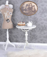 Table d'appoint Shabby Chic Table Blanc En Fer Vintage