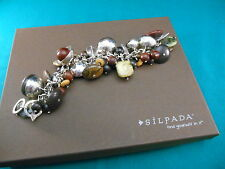 Silpada  ~Sterling Silver Kadam Padauk Ebony Wood  Bracelet  B2003 Box Retired