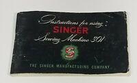 Original Vintage Singer 301 Instructions Manual Sewing Machine 1955