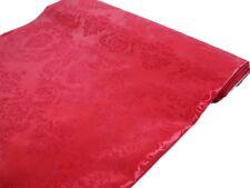 """Red FLOCKING DAMASK TAFFETA FABRIC  54"""" WIDE x 10 yards DIY Wedding Party Sew"""
