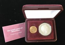 Netherlands 2 piece Set with Gold & Silver Coins