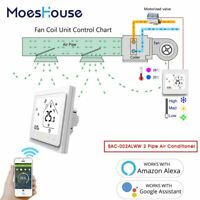 WiFi Air Conditioner Thermostat Controller Fan Coil Unit Alexa Google  2 Pipe