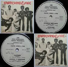 "EARTH WIND & FIRE SHINNING STAR 7"" EP 1981 UNIQ PS! PROMO CHILEAN ONLY TOP RARE!"