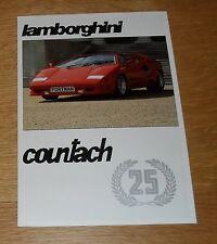 Lamborghini Countach 25th Anniversary Brochure 1988-1989