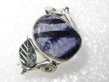 absolute RARITÄT Derbyshire Blue John Fluorit Ring Gr18,5  925 Silber  13x10mm