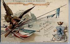 Regia Fabbrica d'Armi di Brescia Direzione d'Artiglieria WWI PC Viaggiata 1910