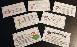 NOVELTY CHRISTMAS SWEET BAG STICKERS Gift Xmas Eve Box Fun Joke Stocking Filler