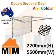 """ Brand New "" Double Sectional Panel Lift Garage Door Any Colour 2200(H) 5500(W)"