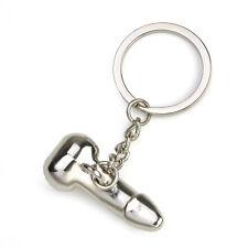 Hot Sale Funny Keyring Keychain Men Metal Car Key Chain Ring Keyfob DIY Gift