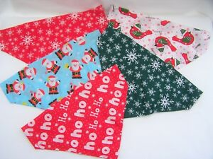 Handmade Christmas dog bandanas slide/slip on collar Gifts for your pooch