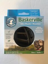 Baskerville Ultra Small Dog Muzzle Size 1 Adjustable Straps Black