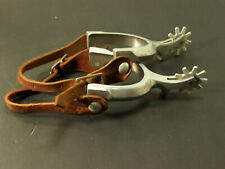 Vintage Western Form Fitting Aluminum Ricardo Boot Spurs and Boot Straps Nice!