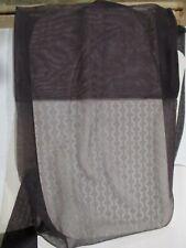2 Pr Vintage Unbranded Rht Textured Sheer Nylon Stockings Size 10 Med Black