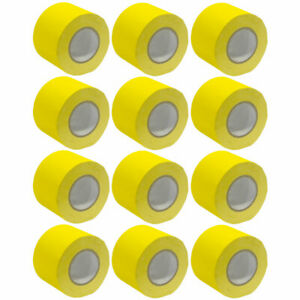 12 Pack of Gaffer's Tape - Yellow 4 inch Rolls 60 Yards per Roll Gaffers Tape