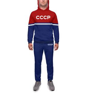 СССР Sport suit Sets CCCP USSR team retro style Спортивный костюм олимпийка