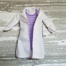 Barbie White Purple Striped Lab Coat Doctor Dentist Scientist Modern Clothing