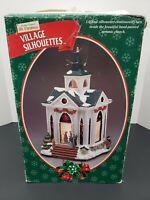 Mr. Christmas Village Silhouettes Church 1998