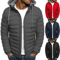 Coat Zip  Jacket Warm Down Puffer Hooded Bubble Mens Winter Quilted Outwear
