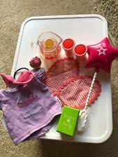 American Girl Doll Bitty Baby Birthday SET Lemonade Balloon Shirt Cupcake