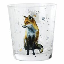 BRAND NEW SARAH STOKES FOX TUMBLER GLASS A27613 BOXED BORDER FINE ARTS